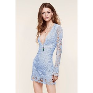 The Jetset Diaries Pisa Lace Bodycon in Cornflower