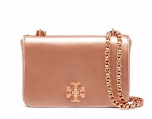 Mercer Metallic Adjustable Shoulder Bag @ Tory Burch