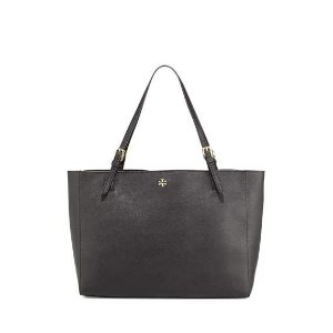 Tory Burch York Saffiano Leather Tote Bag, Black