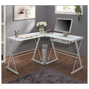 Walker Edison Corner Computer Desk White BB51W29 - Best Buy