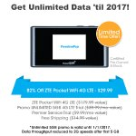 Get UNLIMITED data until 2017 FREE w/ ZTE Pocket WiFi 4G LTE Hotspot - FreedomPop