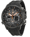 $319.99 Citizen  Navihawk A-T Eco Drive Black Dial Black Rubber Men's Watch