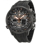 Citizen  Navihawk A-T Eco Drive Black Dial Black Rubber Men's Watch