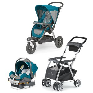 Chicco | Chicco Polaris KeyFit 30 Infant Car Seat +Activ3 Jogging Stroller Bundle - Free Caddy