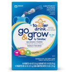 Go & Grow by Similac Powder Singles, Milk Based Toddler Drink, Vanilla, 4 packs of 16 powder sticks