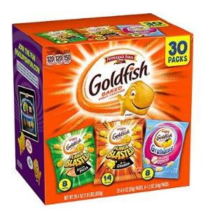 Pepperidge Farm Goldfish Variety Pack Bold Mix, (Box of 30 bags)