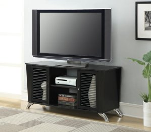 $46.76 Convenience Concepts Designs2Go Voyager TV Stand, Black