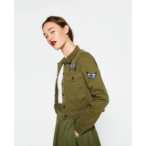 CROPPED MILITARY JACKET - COLLECTION-SALE-WOMAN | ZARA United States
