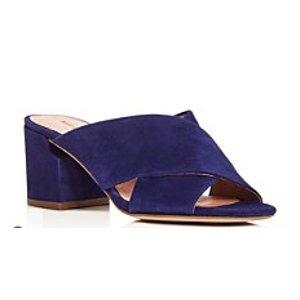 Sigerson Morrison Rhoda Crisscross Mid Heel Slide Sandals | Bloomingdale's