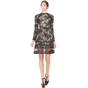 Black Janae Flare Dress