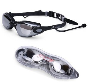 $7.99 Baen Sendi Swimming Goggles with Siamese Ear Plugs UV Protection Anti Fog