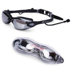 $7.99 Baen Sendi Swimming Goggles with Siamese Ear Plugs UV Protection Anti Fog