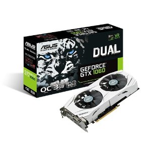 $187.39 ASUS DUAL GTX1060 3G Video Cards