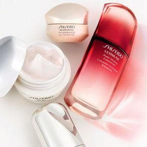 Free travel size! Choose your travel size cleanser with $50 purchase @ Shiseido
