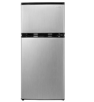 $109.99(reg.$269.99) Insignia™ - 4.3 Cu. Ft. Top-Freezer Refrigerator - Stainless steel look