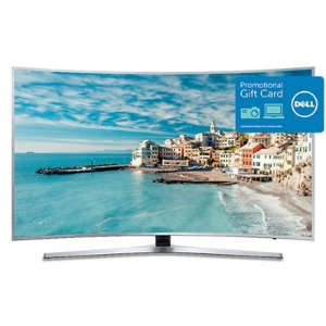 $1199.99 + $300 Gift Card Samsung 65 Inch Curved 4K UHD Smart TV