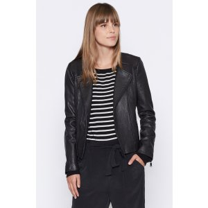 Women's Zippora Leather Jacket made of Leather | Women's New Arrivals by Joie