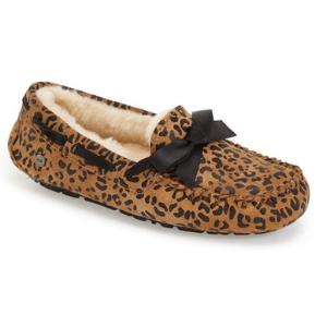 UGG® 'Dakota' Leopard Print Bow Slipper (Women)   Nordstrom