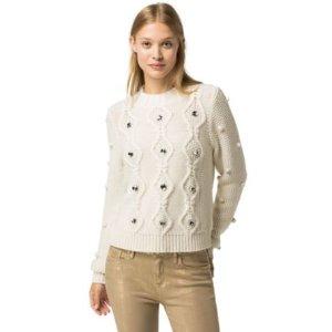 Jeweled Wool Sweater | Tommy Hilfiger USA