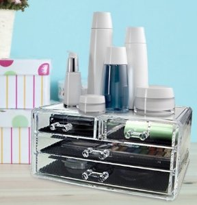 Acrylic Makeup & Jewelry Organizer 4 draw Cosmetic Storage Display Box by AcryliCase