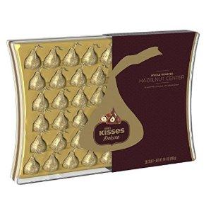 超赞白菜!$6.68拼手快!KISSES 至奢榛子夹心巧克力礼盒-50颗
