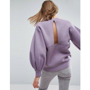 ASOS WHITE Balloon Sleeve Sweater