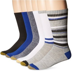 $6.44 Gold Toe Men's Fashion Sport Crew Sock 6-Pack
