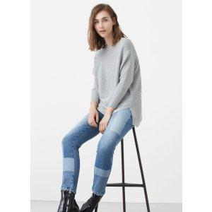 Ribbed cotton-blend sweater - Woman | MANGO USA