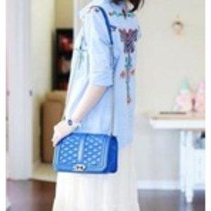 $75.83 Rebecca Minkoff Love Circle Quilt Cross-Body Bag