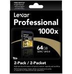 Lowest price! $58.50 Lexar Professional 1000x 64GB SDXC UHS-II Card LSD64GCRBNA10002 - 2 Pack