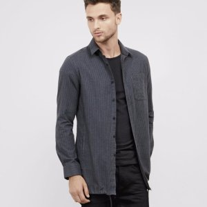 Pinstripe Shirt Jacket | Kenneth Cole