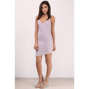 Frances Low Back Mini Bodycon Dress