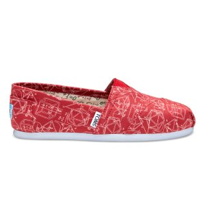 Red Canvas Geometry Women's Classics | TOMS