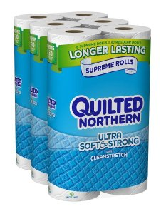 Quilted Northern Ultra Soft & Strong, 24 Supreme (90+ Regular) Rolls TOILET PAPER