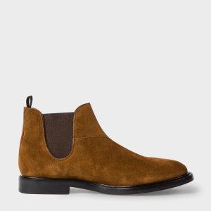 Paul Smith Men's Tan Suede 'Drummond' Chelsea Boots