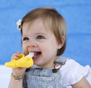 $6.48 Baby Banana Bendable Training Toothbrush, Infant