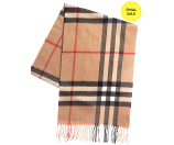 Burberry Classic Heritage Check Cashmere Scarf