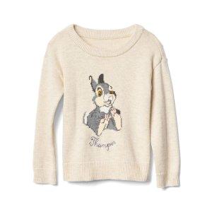 babyGap | Disney Baby Bambi intarsia crew sweater | Gap