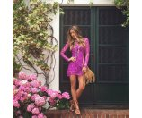 For Love and Lemons Maui Waui Mini Dress Purple Orchid