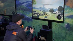 $454.99Nintendo Switch w/ Gray Joy-Con + Pro Controller + Zelda: Breath of the Wild + Game Guide Bundle