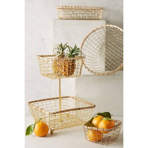 Brushed Wire Fruit Bowl | Anthropologie