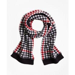 Girls' Wool Blend Windowpane Scarf | Brooks Brothers
