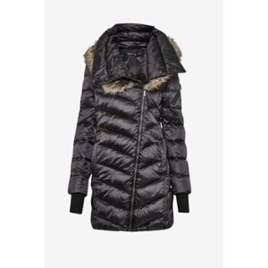Moto Asymetric With Fur Trimmed Hood Coat | Sale | French Connection Usa