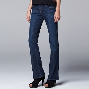As Low As $25.89 Simply Vera Vera Wang Modern Fit Bootcut Jeans