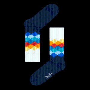 Faded Diamond Blue Socks