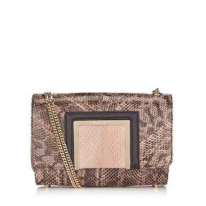 Ballet Pink Gloss Elaphe and Elaphe Shoulder Bag