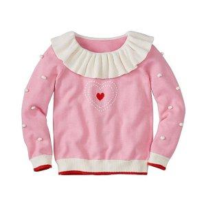 Girls Dr. Seuss Grinch Pom Pom Sweater | Sale Girls Sweaters