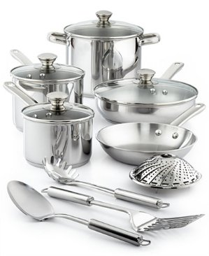$29.99 Tools of the Trade 13-Pc. Cookware Sets in Stainless Steel or Nonstick