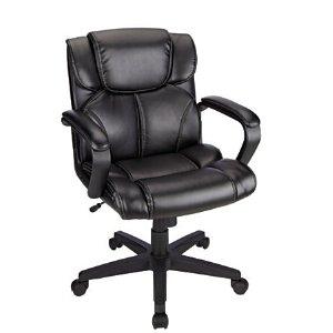 Brenton Studio Briessa Mid Back Vinyl Chair Black by Office Depot & OfficeMax