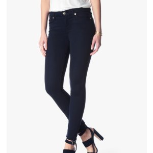 THE ANKLE SKINNY IN MIDNIGHT BLUE RICHE SATEEN 紧身牛仔裤